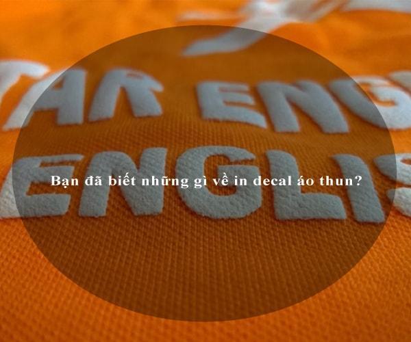 Bạn đã biết những gì về in decal áo thun? 3