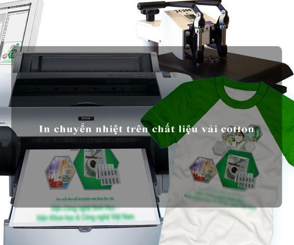 In chuyển nhiệt trên chất liệu vải cotton 1