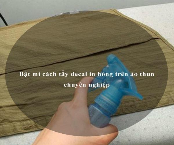 Bật mí cách tẩy decal in hỏng trên áo thun chuyên nghiệp 4