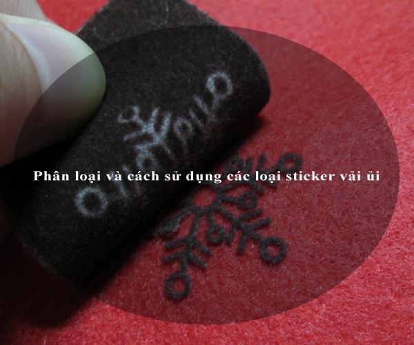 Phân loại và cách sử dụng các loại sticker vải ủi 3