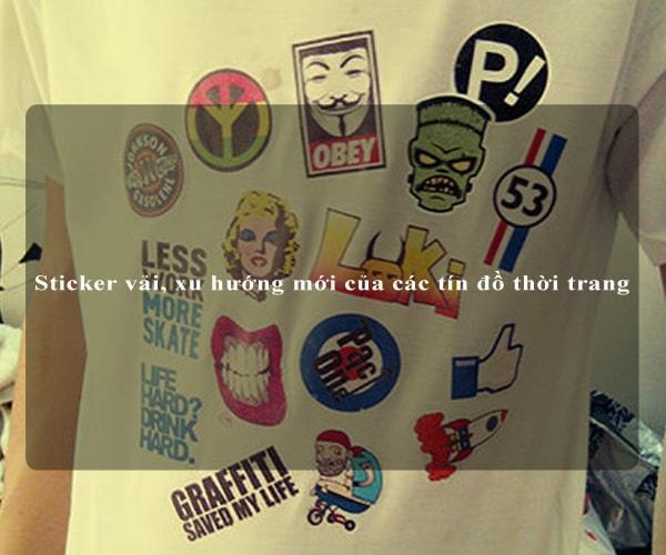 Sticker vải, xu hướng mới của các tín đồ thời trang 1