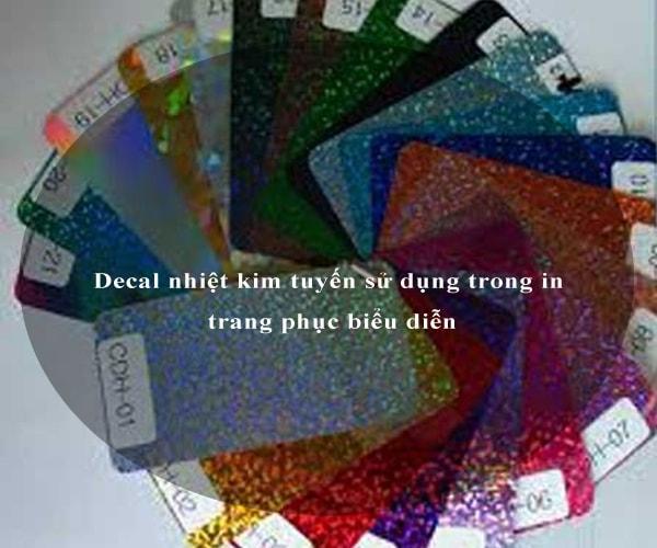 Decal nhiệt kim tuyến sử dụng trong in trang phục biểu diễn 2
