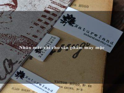 Nhãn mác vải cho sản phẩm may mặc