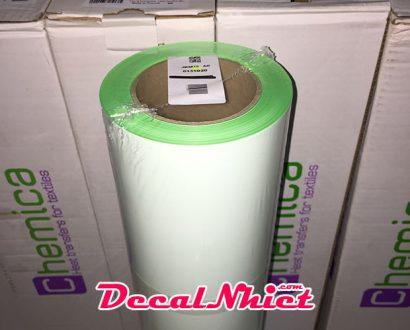 Decal nhiệt Pháp màu mi nơ lá First Mark Fluo Green 131 (PVC)